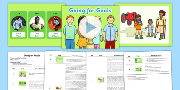SEAL Going for Goals Assembly Pack - seal, going, goals, assembly, pack