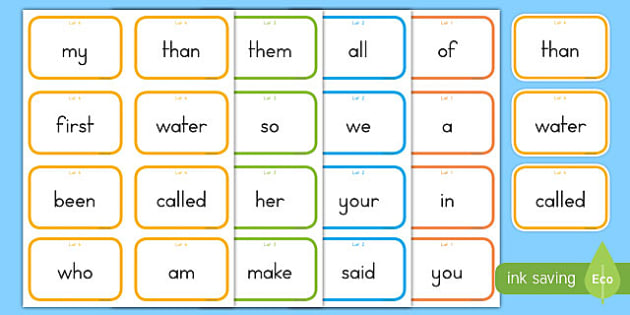 Fry Words The First Hundred Flashcards
