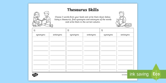 Thesaurus Skills Worksheet / Activity Sheet - Thesaurus Skills Worksheet - thesaurus thesaurus skills  sc 1 st  Twinkl : door thesaurus - Pezcame.Com