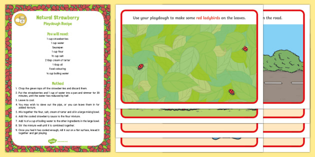 Red-Themed Playdough Recipe and Mat Pack