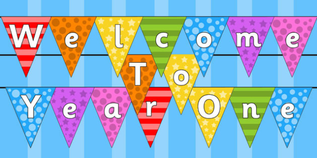 Welcome to Year One Bunting Multicoloured