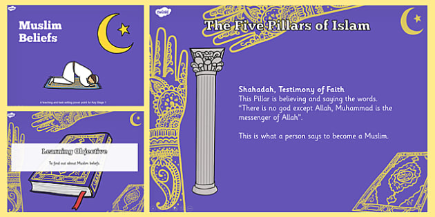 Muslim Beliefs Teaching and Task Setter PowerPoint - Muslims