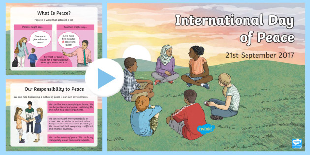 International Day of Peace 21st September 2017 PowerPoint - peace, RE, refugee, migrant, syria, immigrants, ethnic, war, crisis, disaster, terrorism