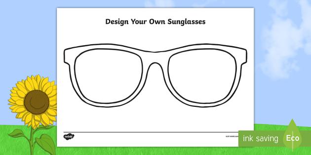 Design Your Own Sunglasses Worksheet / Activity Sheet