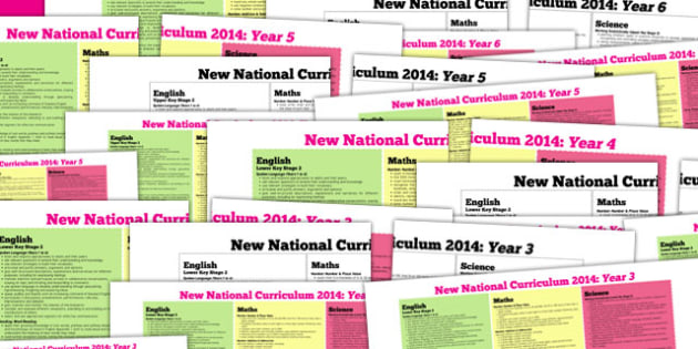 KS2 2014 National Curriculum Posters Years 3 To 6 - key stage two