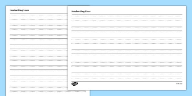 Four Lined Handwriting Sheets - four lined, handwriting, writing