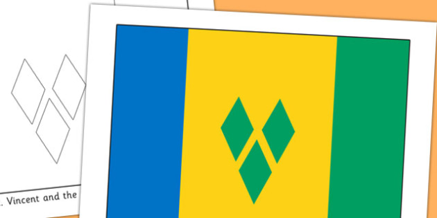 St Vincent and the Grenadines Flag Display Poster - countries
