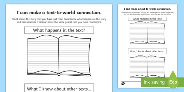 Cfe Text To Text Connections Worksheet Worksheet Cfe Literacy