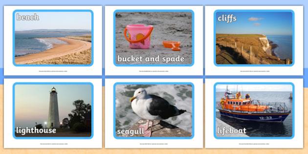 Seaside Display Photos - Display Posters, Seaside, A4, display, posters, water, tide, waves, sand, beach, sea, sun, holiday, coast
