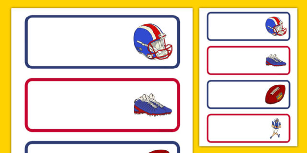 NFL Themed Labels - usa, nfl, national football league, football, american football, themed, labels