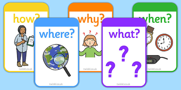 👉 5W1H Worksheet - Who What Where When How Question Cards