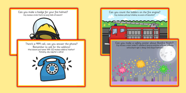 Challenge Cards Fire Station Polish Translation - polish, challenge, cards, fire, station