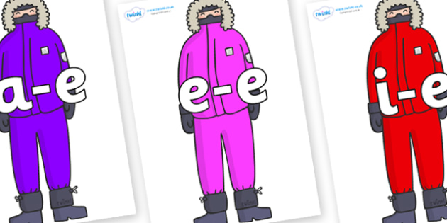 Modifying E Letters on Arctic Explorers - Modifying E, letters, modify, Phase 5, Phase five, alternative spellings for phonemes, DfES letters and Sounds