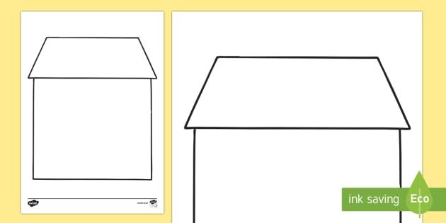 Doodle Draft House Worksheet / Activity Sheet-Irish