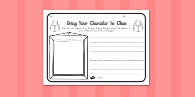 Bring Your Character to Class Comprehension Worksheet - australia
