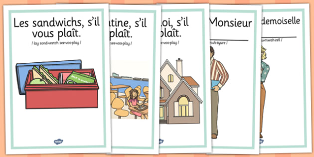 French Y3 What are We Having for Lunch Poster With Pronunciation
