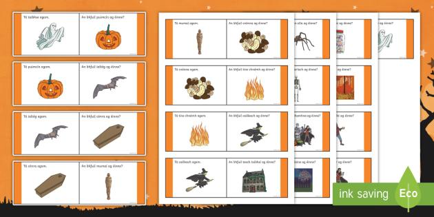Halloween Loop Cards Gaeilge  - oíche shamhna, october, cluiche, game, irish,Irish
