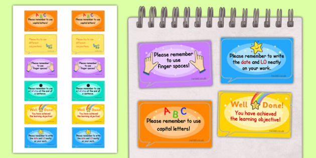 Time Saving Speech Bubble Stickers for Marking - marking, time saving, stickers, time saving stickers, stickers for marking, speech bubble stickers, speech bubbles, speech bubbles for marking, time saving stickers for marking, help marking