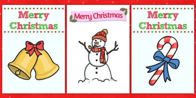 Christmas Card Templates  Christmas Xmas Card Template Card