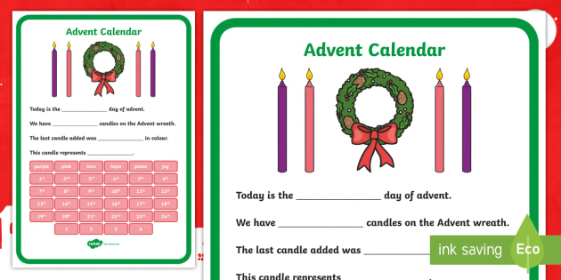 advent display poster christmas countdown rme. Black Bedroom Furniture Sets. Home Design Ideas