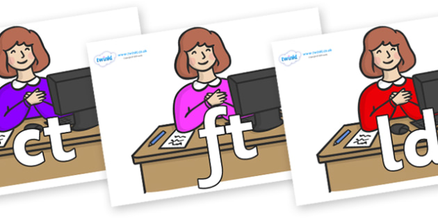 Final Letter Blends on Receptionists - Final Letters, final letter, letter blend, letter blends, consonant, consonants, digraph, trigraph, literacy, alphabet, letters, foundation stage literacy