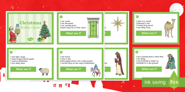 24 Christmas Riddle Primary Challenge Resource