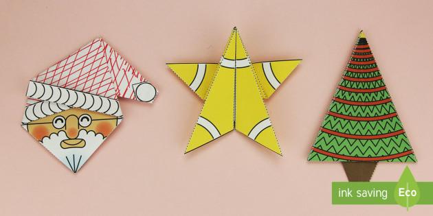 Origami di Natale 3D pacco Attività - natale, natalizio - photo#22