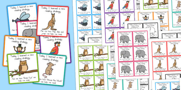 Guided Reading Strategy Cards to Send Home - australia, guide