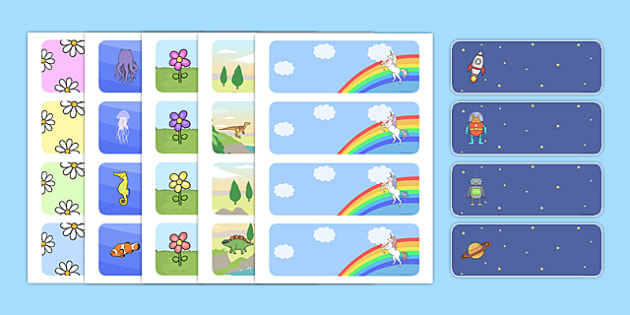 Classroom Design Creator ~ Editable classroom label templates resource labels name
