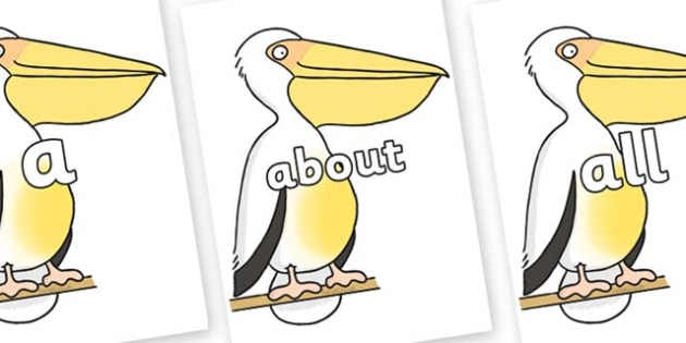 100 High Frequency Words on Pelican to Support Teaching on The Great Pet Sale - High frequency words, hfw, DfES Letters and Sounds, Letters and Sounds, display words