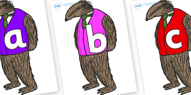Phoneme Set on Badger to Support Teaching on Fantastic Mr Fox - Phoneme set, phonemes, phoneme, Letters and Sounds, DfES, display, Phase 1, Phase 2, Phase 3, Phase 5, Foundation, Literacy