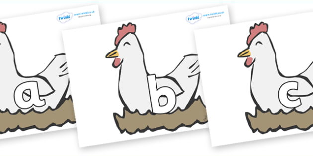 Phoneme Set on Hens - Phoneme set, phonemes, phoneme, Letters and Sounds, DfES, display, Phase 1, Phase 2, Phase 3, Phase 5, Foundation, Literacy