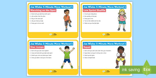 Joe Wicks: 5-Minute Move Workout 1 Cards