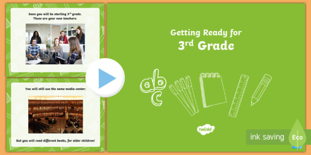 Get Ready for... Next Grade! Editable PowerPoint