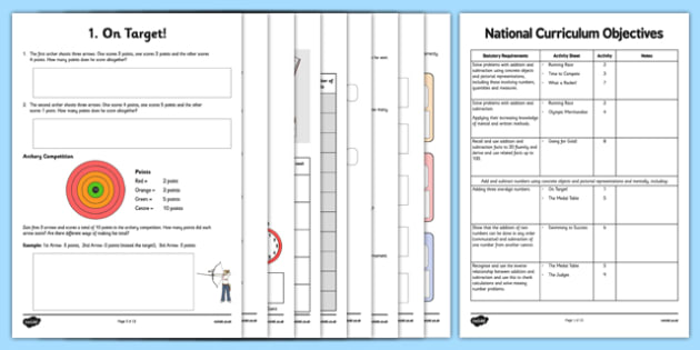 Rio 2016 Olympics Addition and Subtraction Word Problem Activity Sheet Pack, worksheet
