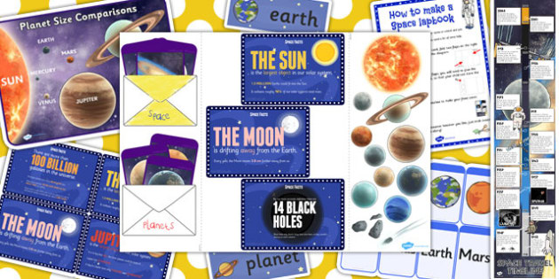 Space Lapbook Creation Pack - space, lapbooks, creation, pack