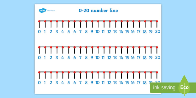 picture regarding Printable Number Lines to 20 called Range Line - Quantities 0 towards 20 - Maths Device