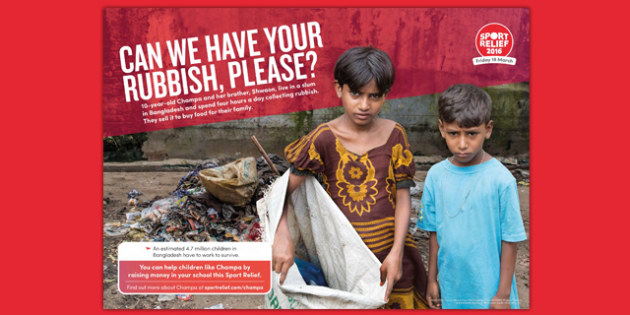 Sport Relief 2016: Learning Poster (Primary) - sport relief 2016, learning poster, display