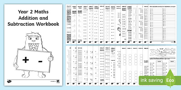Year 2 Maths Addition And Subtraction Worksheet Booklet