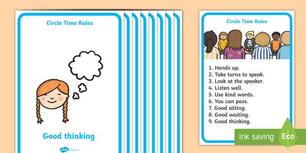 Circle Time Rules Display Poster - circle time, rules, posters, behave, good behavior