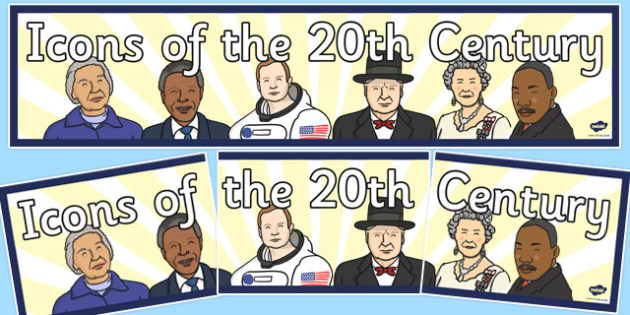 Icons of the 20th Century Display Banner - icons, 20th, century, display banner