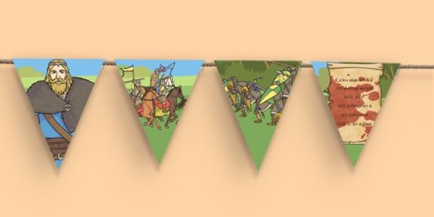 The Vikings Themed Display Bunting - the vikings, display bunting, display, bunting