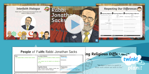 RE: People of Faith: Rabbi Jonathan Sacks Year 4 Lesson Pack 3