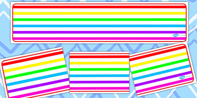 Rainbow Themed Editable Banner - banners, edit, colours, display