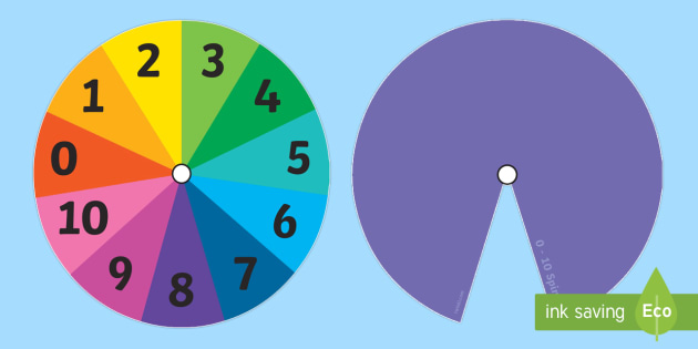 Numbers 0-10 Spinner - numbers, 0-10, spinner, activity, 10
