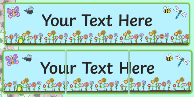 Spring Themed Editable Banner Template - spring, seasons, weather