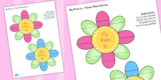 Australia Mother's Day Flower Petal Activity