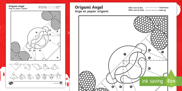 Simple Origami Christmas Angel Paper Craft English/French - photo#39