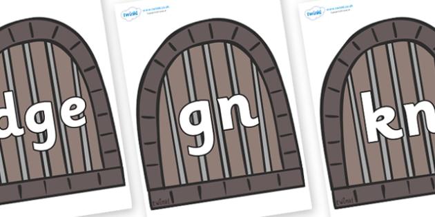 Silent Letters on Jail Cells - Silent Letters, silent letter, letter blend, consonant, consonants, digraph, trigraph, A-Z letters, literacy, alphabet, letters, alternative sounds