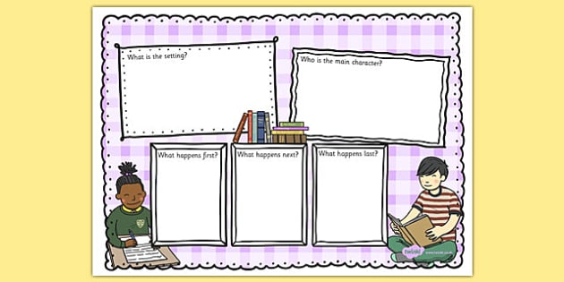Book Review Writing Template Colourful - reading review, read, literacy, writing, template
